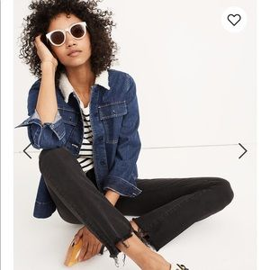 Madewell Cali Demi-Boot Jeans Chewed-Hem Edition